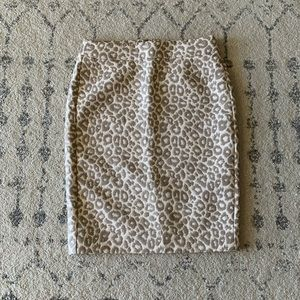 Neutral leopard Banana Republic pencil skirt